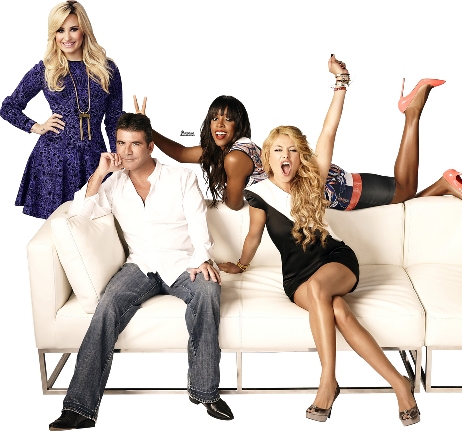 X Factor Judges 2013 Demi Lovato Giant X factor judges ...