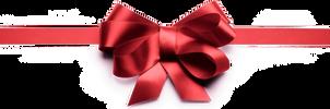 Xmas bow ribbon png 3