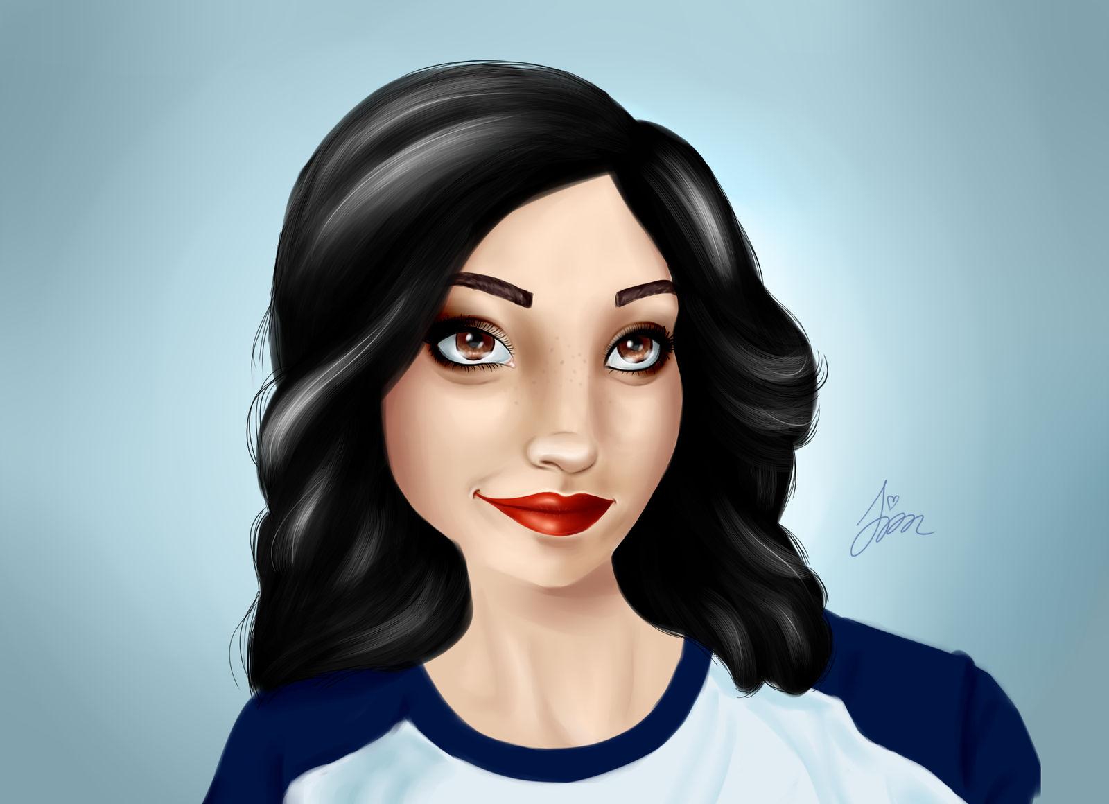 Laia Lopez digital painting by iamszissz