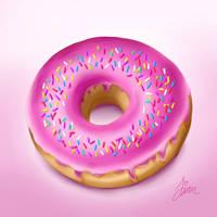 Donut digital painting
