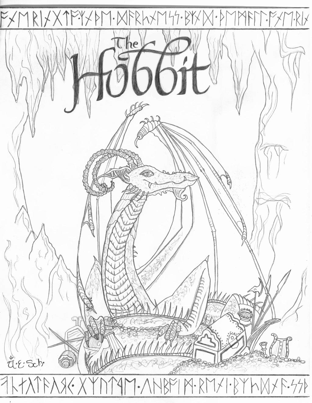 the hobbit coloring pages cover page sketch the hobbit by fanatikerfrau on deviantart
