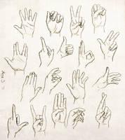Hand study by FanatikerFrau