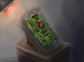 SCP Art: Scp-003 - Biological Motherboard by GamingHedgehog