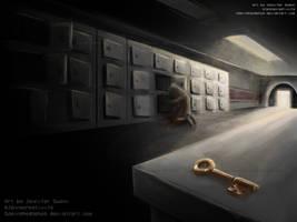 SCP Art: SCP-005 Skeleton key by GamingHedgehog