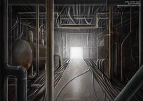 SCP Art: SCP-015 - Pipe nightmare by GamingHedgehog