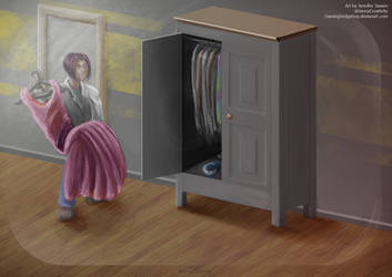 SCP Art: SCP-025 - Well-worn wardrobe by GamingHedgehog