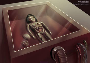 SCP Art: SCP-051 - Japanese Obstetrical Model by GamingHedgehog