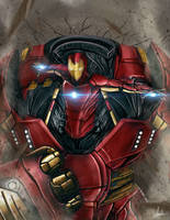 Hulkbuster Iron Man by agleronmartin