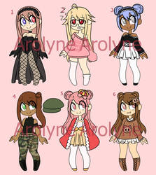 Adopt Batch 1 (3/6 Open) (Price lowered) by Arolynn