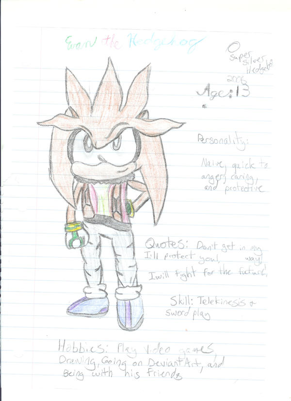 Supersilver Hedgehog Evan The Hedgehog Deviantart