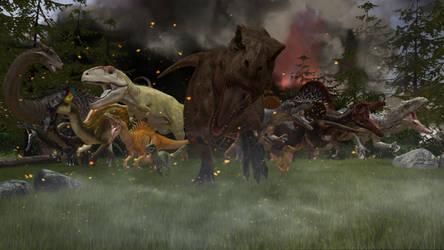 {SFM} Jurassic Run! by IllyaUmaru