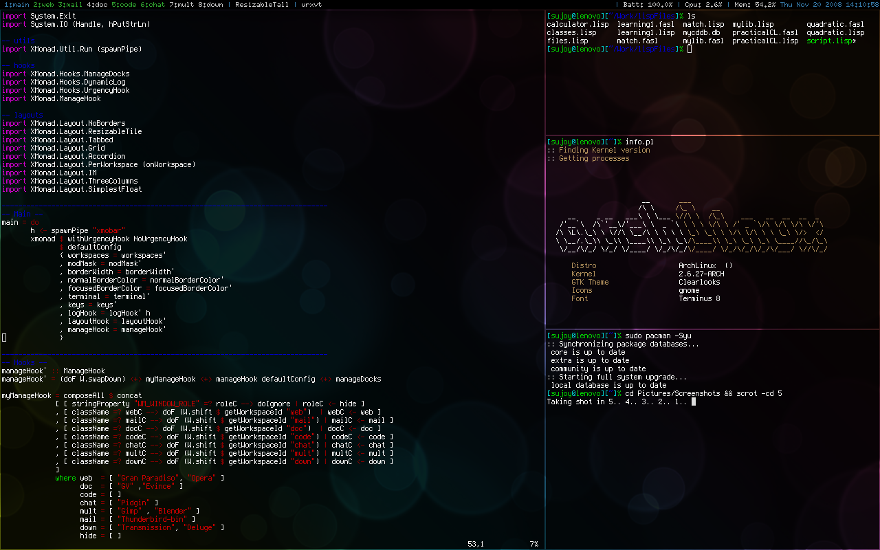 NovemberDesk by binarycodes