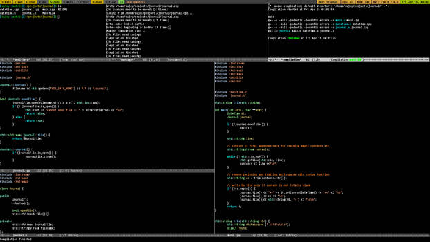 A night with emacs
