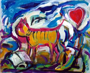 Cat In Love by zampedroni