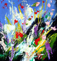 Floral Abstract Painting 2008 by zampedroni