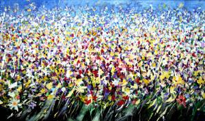 Abstract flower field 2009 by zampedroni