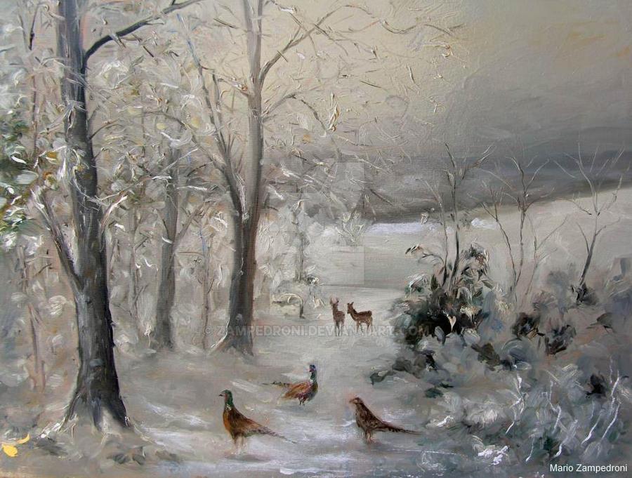 Christmas landscape by zampedroni on DeviantArt