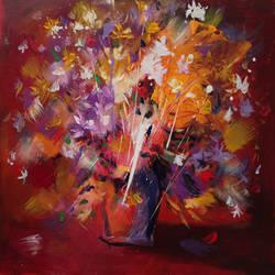 Flowers - canvas