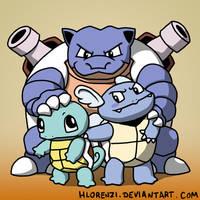 The Turtle Family by HLorenzi