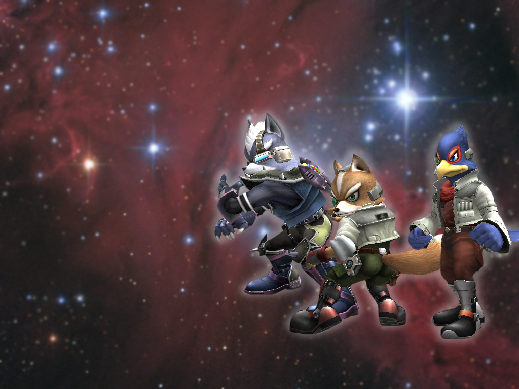 Wolf Falco Fox SSBB Wallpaper by starfox-clubFalco Ssbb Drawings