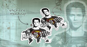 Stickers Mock-Up Man Of Steel by EugeneStanciu