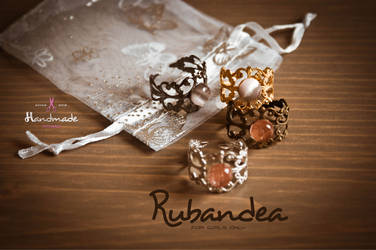 Assortiment des bagues Rubandea Assorted rings