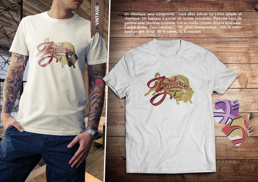 T-Shirt Zimbroo 2016 - logo Zimbroo vintage by EugeneStanciu