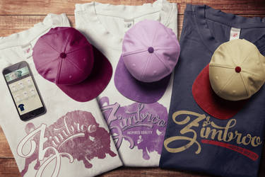 Zimbroo t-shirts and caps 2016