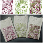 T-shirts design sport football + handball