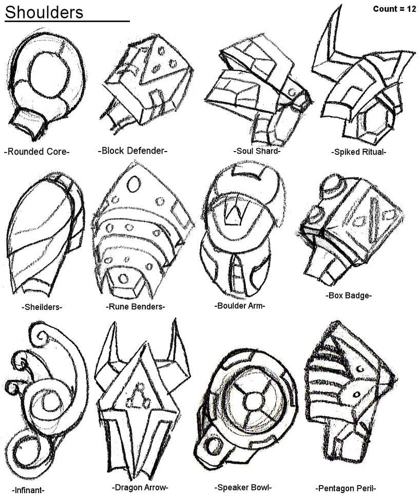 Robot Parts: Shoulders by xXlSalimuslXx on DeviantArt