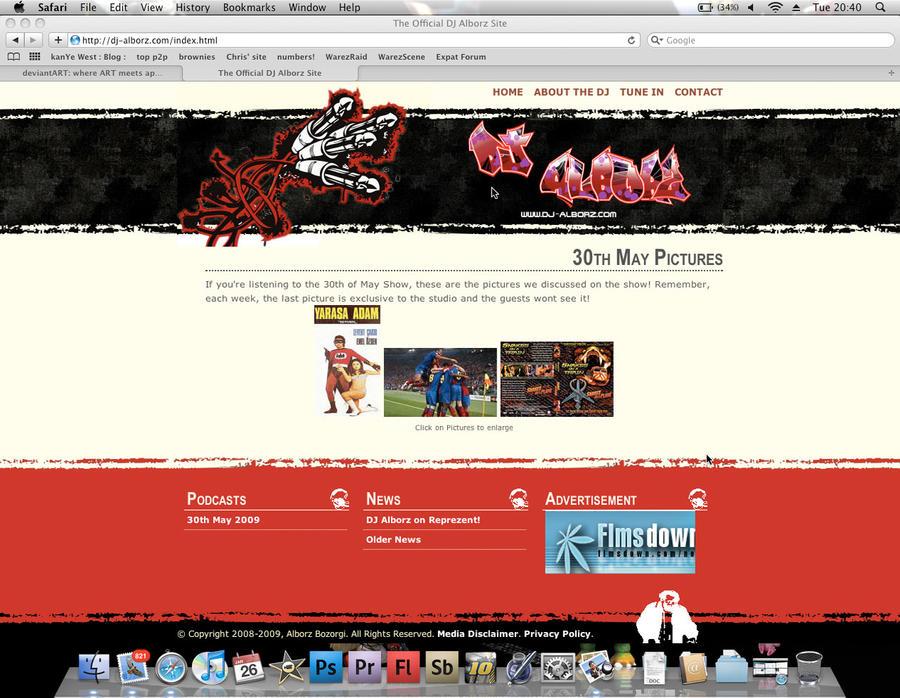 DJ Alborz Website V3 by Alborz
