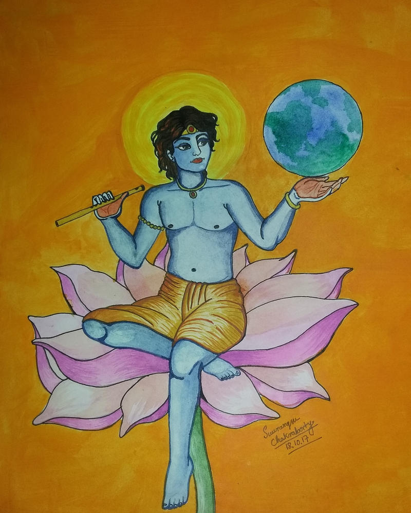 lord krishna-acrylic by tutansuv