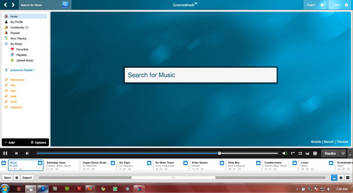 Grooveshark Custom UI by Proxone