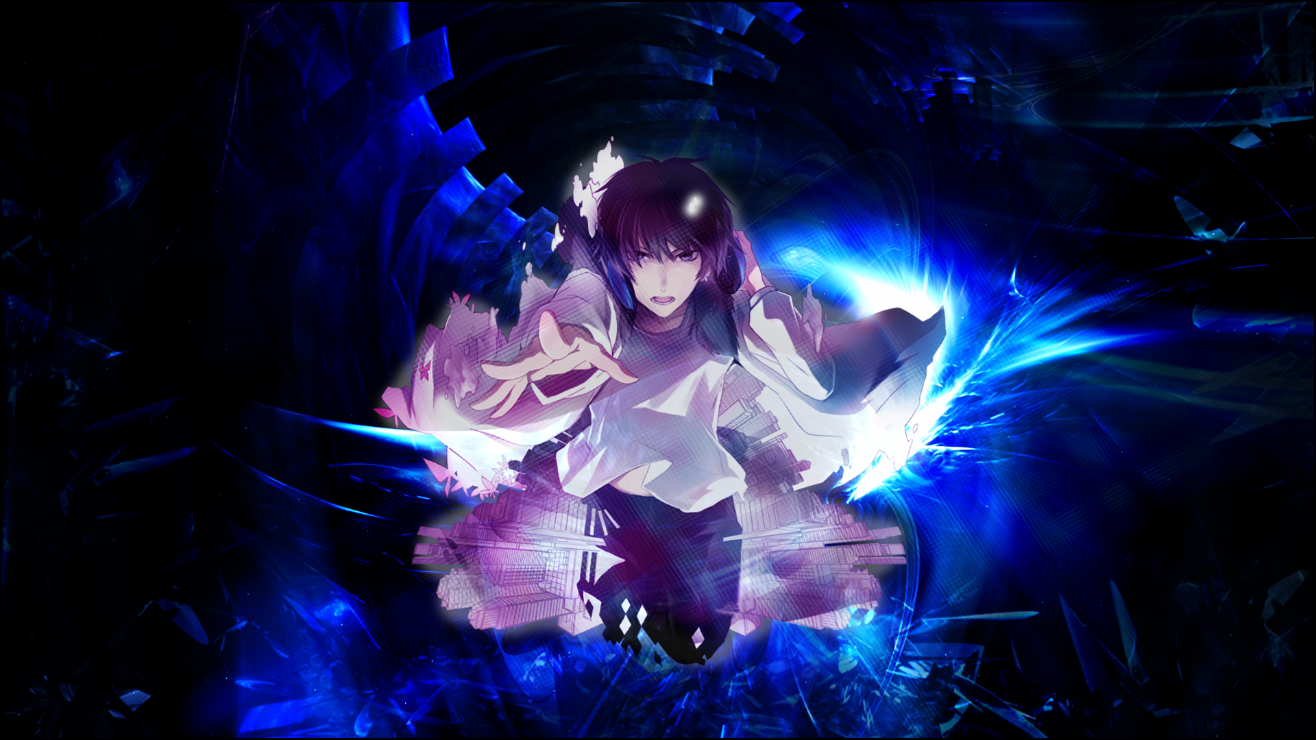 Abstract anime background by veloxity on deviantart - Abstract anime girl ...