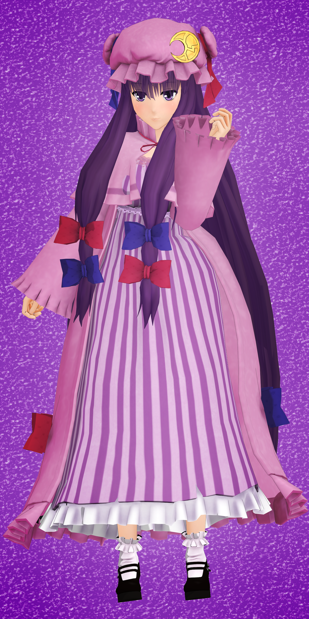 3d mmd patchouli knowledge dances to good luck 3