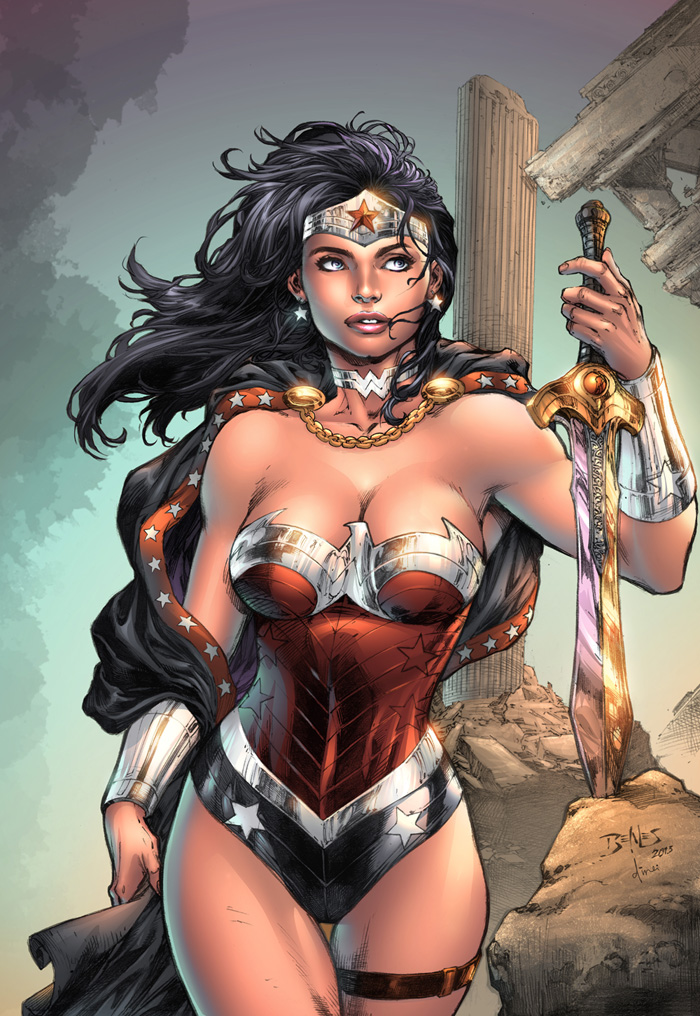 wonderful art of Ed Benes and my colors to compose by dinei