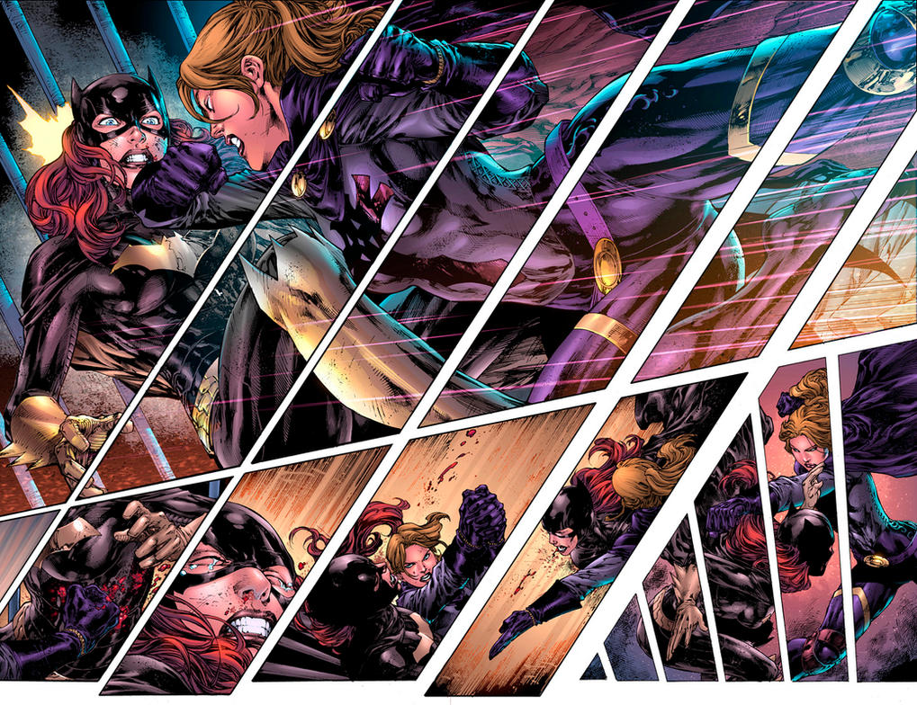 Batgirl sample colors!!! by dinei