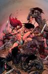 Red Sonja-Conan03-Castro BW colors dineiRibeiro