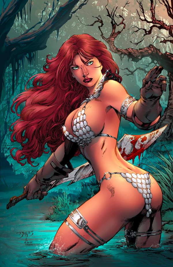 Red Sonja Annual 2015 cover colors