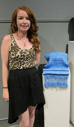 Waffle Weave Scarf - Grad Piece by cherry767
