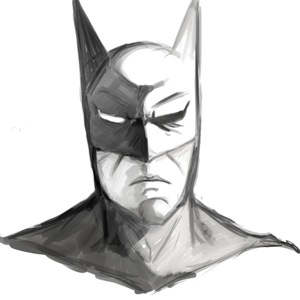 batman sketch by Sho-Sakka