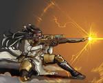 COMMISSIN: Xela, Machinist Sniper, FF14 OC