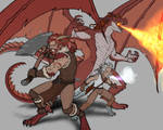 COMMISSION: Half Dragon Family