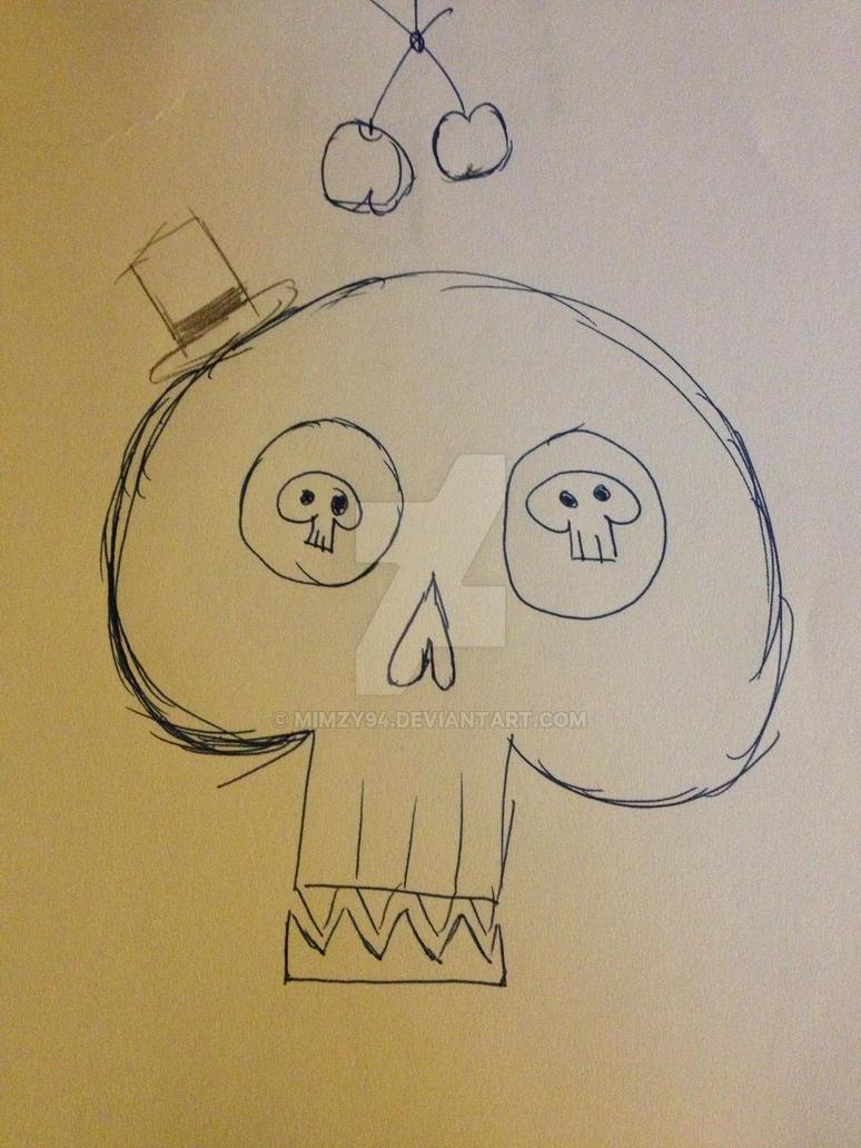 Skull sketch by Mimzy94