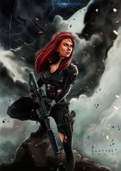 Black Widow by santtos-portfolio