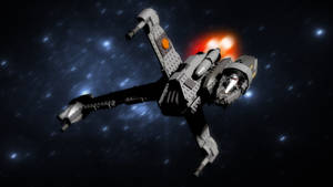 Lego B-Wing 3D render...