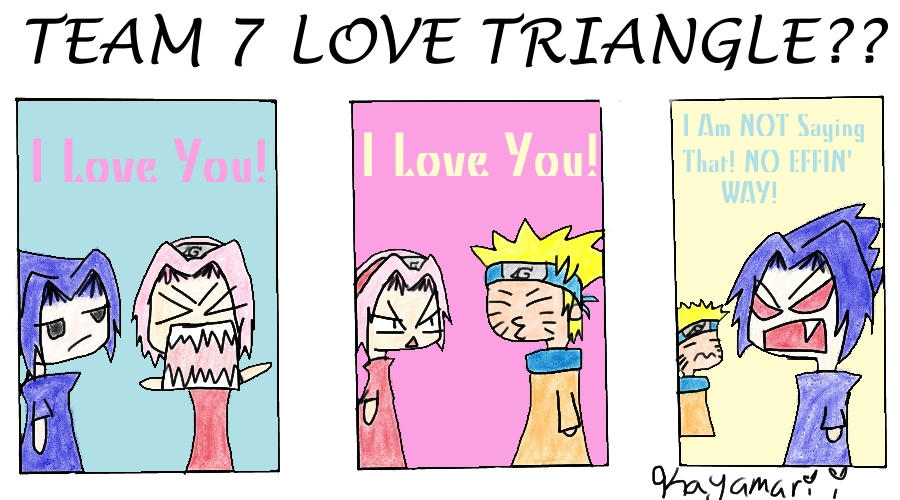 Team 7 Love Triangle By Kayamarii On Deviantart