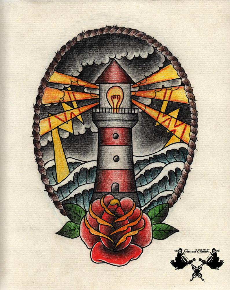 tattoo flash lighthouse 02 by tausend nadeln on deviantart. Black Bedroom Furniture Sets. Home Design Ideas