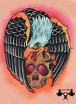tattoo-flash eagle and skull