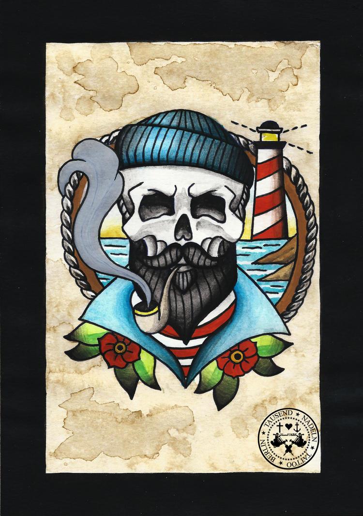 tattoo flash sailor man by tausend nadeln on deviantart. Black Bedroom Furniture Sets. Home Design Ideas